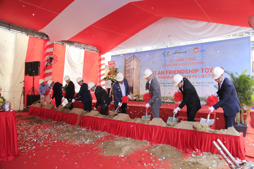 Coteccons groundbreaking ceremony